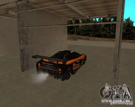 McLaren F1 für GTA San Andreas Rückansicht