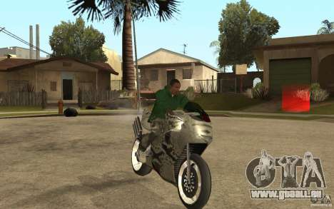 Streetfighter NRG 500 Snakehead v2 pour GTA San Andreas vue arrière