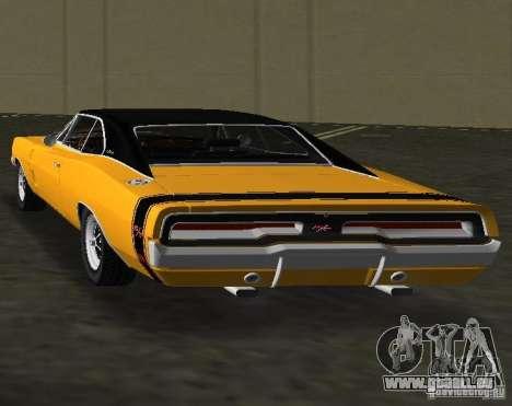 Dodge Charger RT 1969 für GTA Vice City zurück linke Ansicht