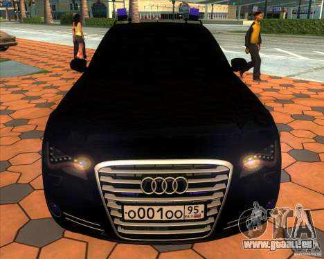 Audi A8 2010 v2.0 für GTA San Andreas obere Ansicht
