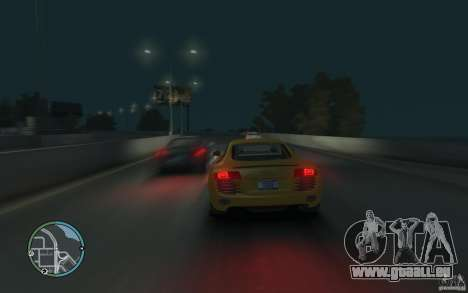 Audi R8 4.2 FSI für GTA 4 hinten links Ansicht