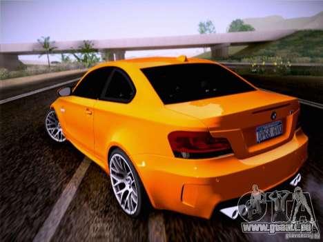 BMW 1M E82 Coupe pour GTA San Andreas laissé vue