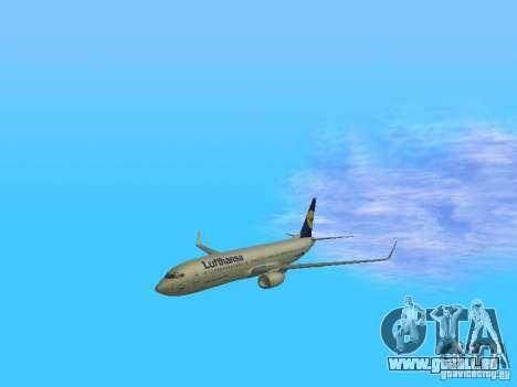 Boeing 737-800 Lufthansa für GTA San Andreas Seitenansicht