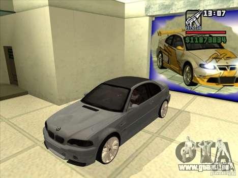 BMW M3 CSL E46 G-Power pour GTA San Andreas vue arrière