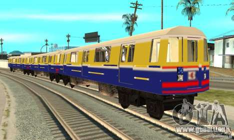 Liberty City Train Italian pour GTA San Andreas sur la vue arrière gauche