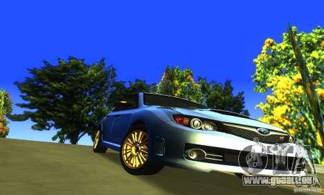 Subaru Impresa WRX STI 2008 pour GTA San Andreas vue intérieure