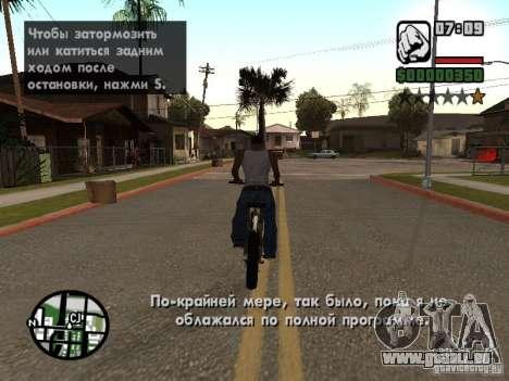 Traduction originale de 1C pour GTA San Andreas deuxième écran