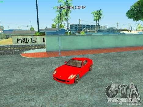 Ferrari 599 GTB für GTA San Andreas Innen