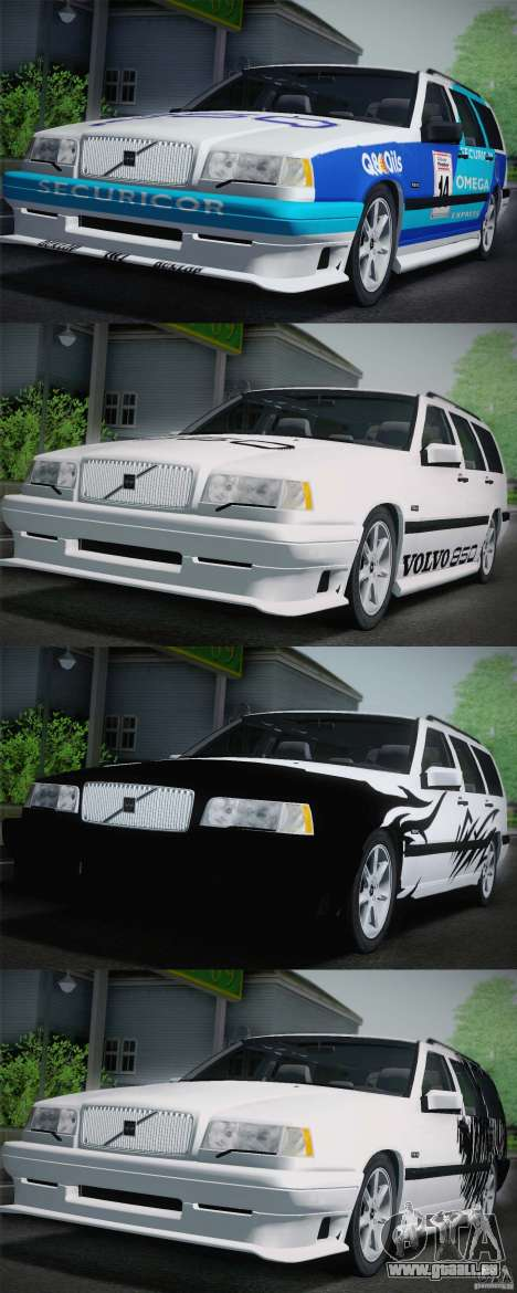 Volvo 850 Estate Turbo 1994 pour GTA San Andreas salon