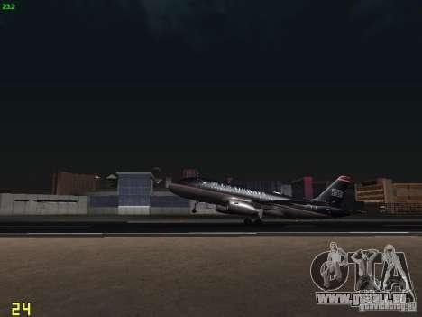 Airbus A319 USAirways pour GTA San Andreas vue intérieure