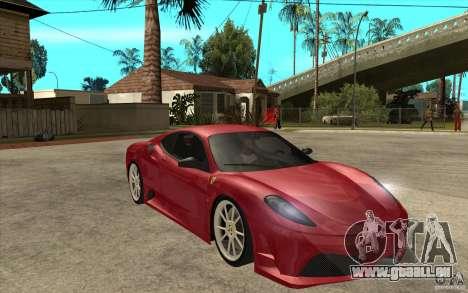 Ferrari F430 Scuderia für GTA San Andreas Rückansicht