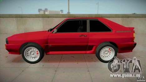 Audi Sport quattro 1983 pour GTA San Andreas laissé vue