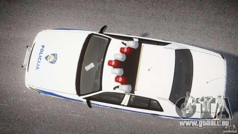 Ford Crown Victoria Croatian Police Unit pour GTA 4 Vue arrière de la gauche