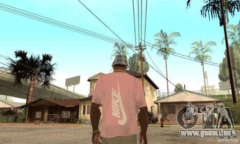Pink Nike T-Shirt pour GTA San Andreas deuxième écran