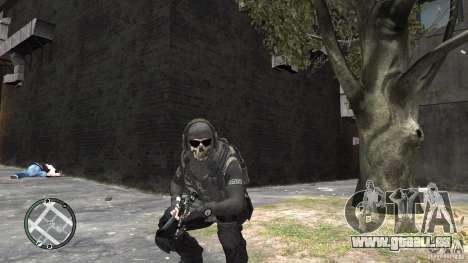 MW2 Ghost Diving Suit pour GTA 4 secondes d'écran