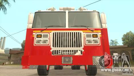 FDNY Seagrave Marauder II Tower Ladder pour GTA San Andreas vue arrière