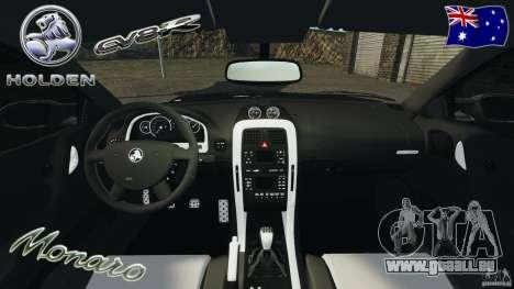 Holden Monaro CV8-R pour GTA 4 Vue arrière