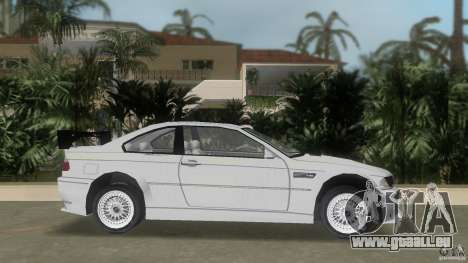 BMW M3 pour une vue GTA Vice City de la gauche