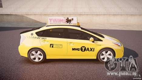 Toyota Prius NYC Taxi 2011 pour GTA 4 vue de dessus