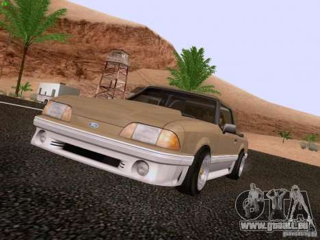 Ford Mustang GT 5.0 Convertible 1987 für GTA San Andreas linke Ansicht