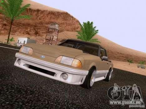 Ford Mustang GT 5.0 Convertible 1987 pour GTA San Andreas laissé vue