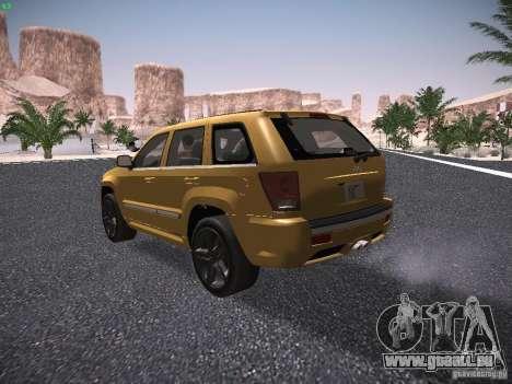 Jeep Grand Cherokee SRT8 für GTA San Andreas rechten Ansicht