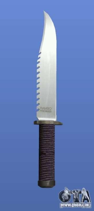 Couteau Rambo sans signature pour GTA 4 quatrième écran