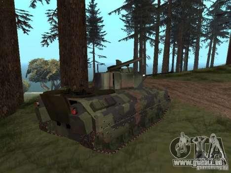M2A3 Bradley pour GTA San Andreas laissé vue