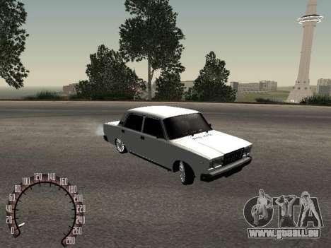 VAZ 2107 BPAN pour GTA San Andreas sur la vue arrière gauche