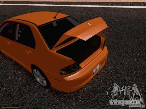 Mitsubishi Lancer Evolution VIII pour GTA San Andreas vue de dessous