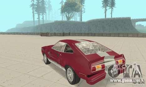Ford Mustang II 1976 Cobra v. 1.01 für GTA San Andreas Seitenansicht