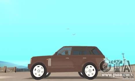 Range Rover Vogue 2004 pour GTA San Andreas sur la vue arrière gauche