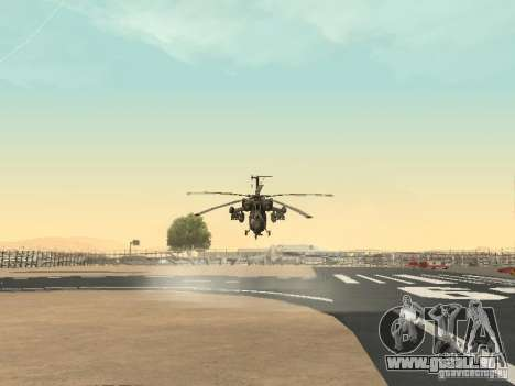 Mil Mi-28 für GTA San Andreas Rückansicht