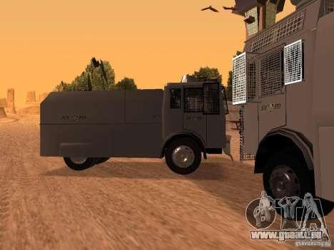 Un canon à eau police Rosenbauer pour GTA San Andreas laissé vue