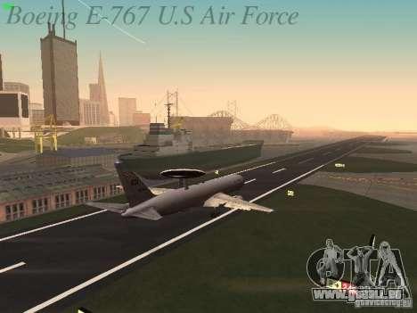 Boeing E-767 U.S Air Force pour GTA San Andreas vue de dessous