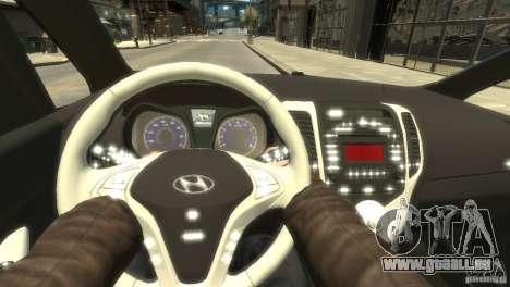 Hyundai IX20 2011 pour GTA 4 est une vue de l'intérieur
