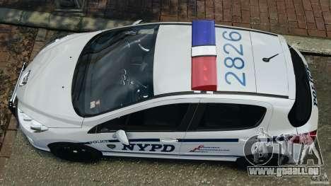 Peugeot 308 GTi 2011 Police v1.1 für GTA 4 rechte Ansicht