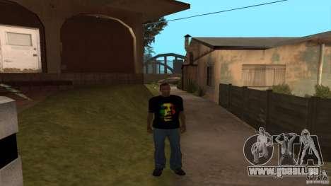 Bob Marley t-shirt für GTA San Andreas