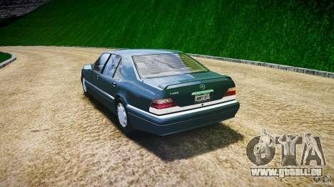 Mercedes Benz SL600 W140 1998 higher Performance für GTA 4 hinten links Ansicht