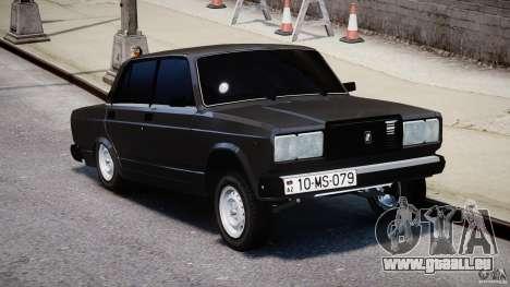 VAZ-2107 Avtosh style pour GTA 4 est un droit