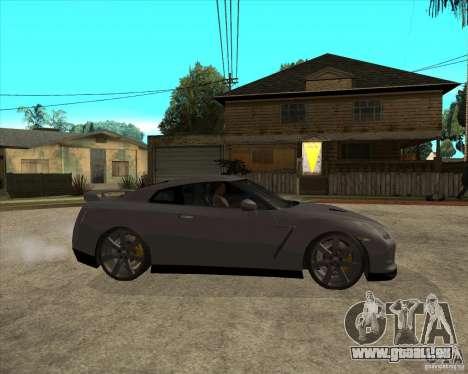 2008 Nissan GTR R35 pour GTA San Andreas vue de droite