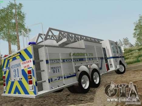 Pierce Puc Aerials. Bone County Fire & Ladder 79 für GTA San Andreas Innen