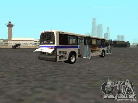 GMC RTS MTA New York City Bus für GTA San Andreas rechten Ansicht