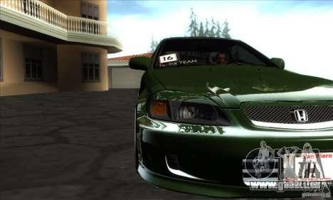 Honda Civic 1995 pour GTA San Andreas vue intérieure