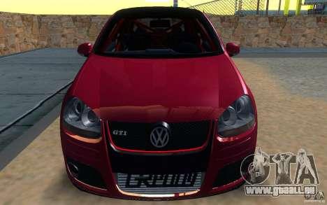 VolksWagen Golf GTI MK5 pour GTA San Andreas sur la vue arrière gauche