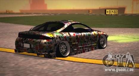Mitsubishi Eclipse 1997 Drift pour GTA San Andreas laissé vue