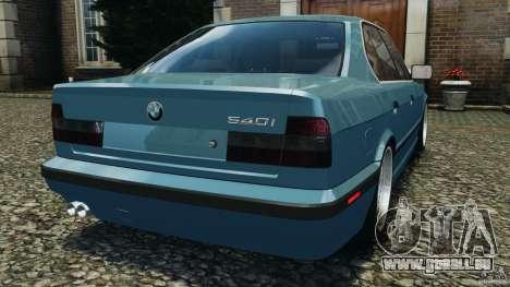 BMW E34 V8 540i pour GTA 4 Vue arrière de la gauche