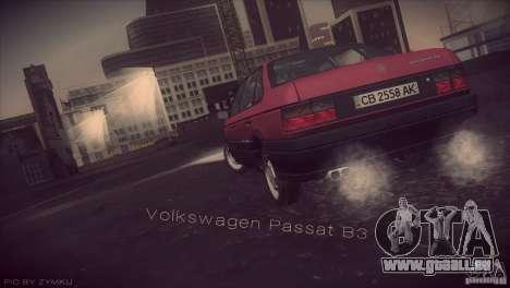 Volkswagen Passat B3 v2 pour GTA San Andreas laissé vue