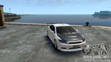 Toyota Scion pour GTA 4 Vue arrière de la gauche
