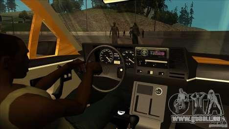 Volkswagen Santana GLS für GTA San Andreas Innenansicht